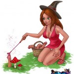 Witch Cartoon with Devil into Witch Sexy Cartoons