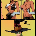 Witch makes a footjob into Witch Sexy Cartoons
