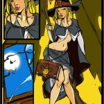 Half-naked witch cartoon into Witch Sexy Cartoons