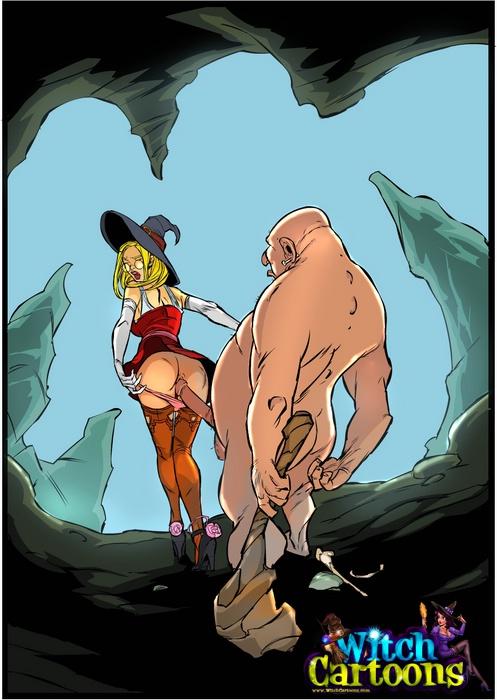 X Witch Cartoon