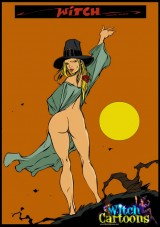 The old cock magic into Witch Sexy Cartoons