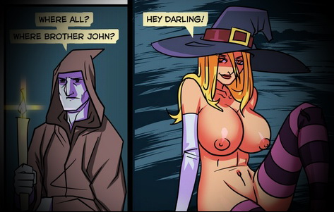 Double penetration in a Witch!